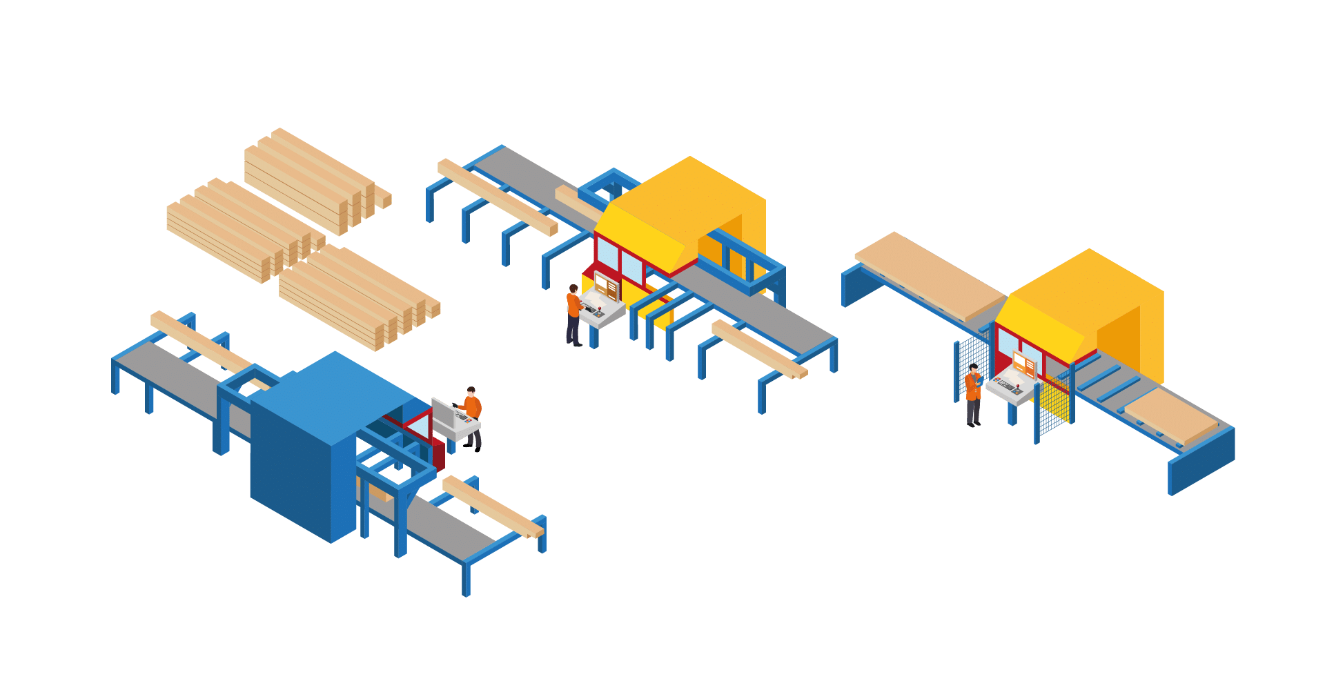 2. Taillage du bois et des panneaux
